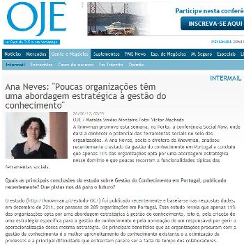 Entrevista com Ana Neves no OJE online