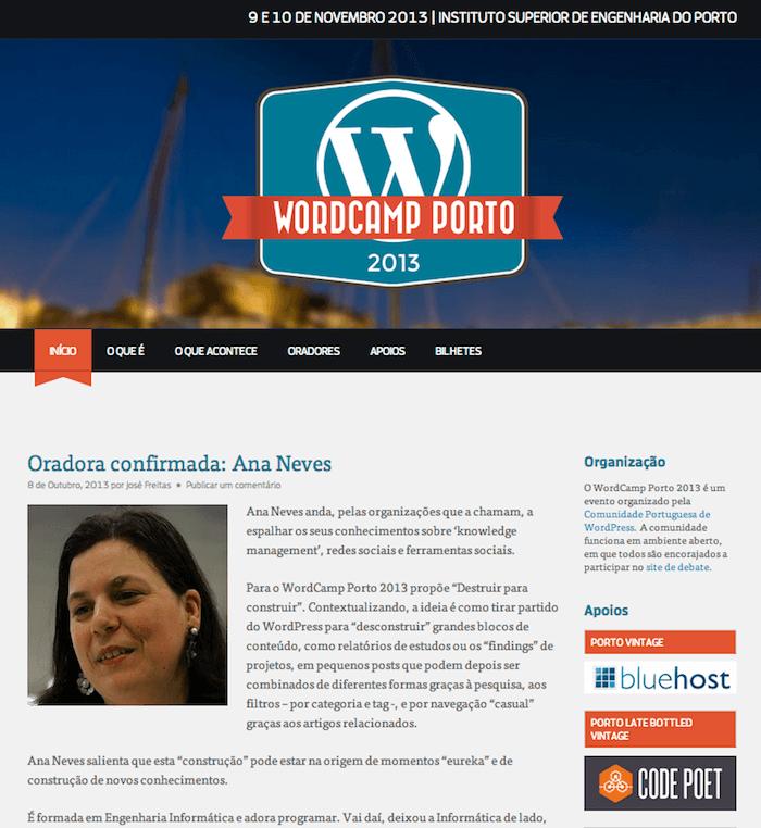 WordCamp Porto 2013 - Notícia