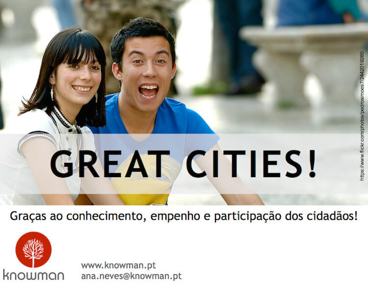 Great Cities - um dos slides que Ana Neves usou na sua intervenção