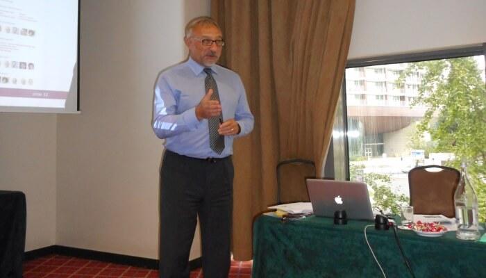 Paul Corney durante o workshop em Lisboa (2015)
