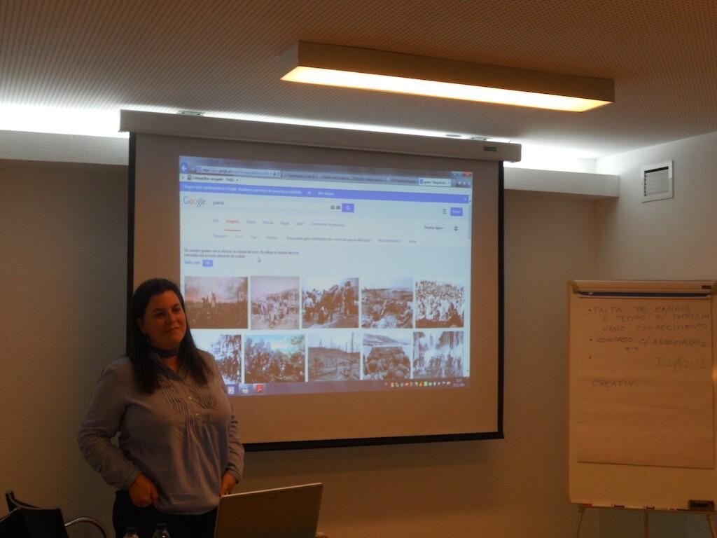 Ana Neves durante a formação à PASC