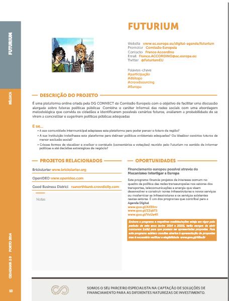 Página do booklet do Cidadania 2.0 / Booklet page