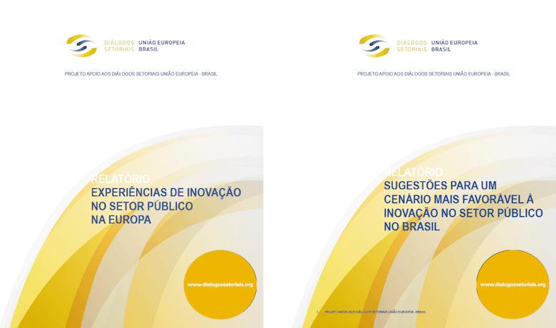 Capa dos 2 relatórios sobre Inovação no Setor Público