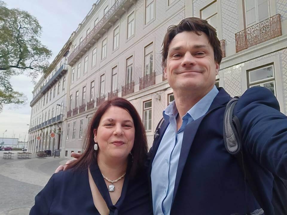 Ana Neves y Jaap Linssen
