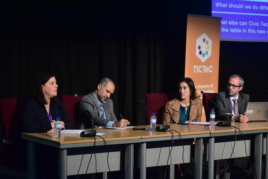 Ana Neves no painel do TICTeC 2018 em Lisboa