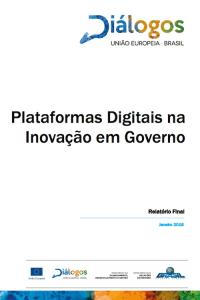 """Capa do relatório """"Plataformas Digitais na Inovação em Governo"""""""