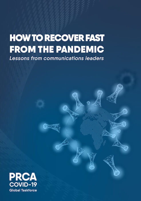 "Capa do documento ""How to recover fast from the pandemic"""