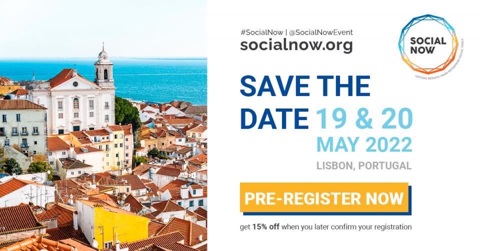 Social Now 2022 - marque na agenda e pré-registo